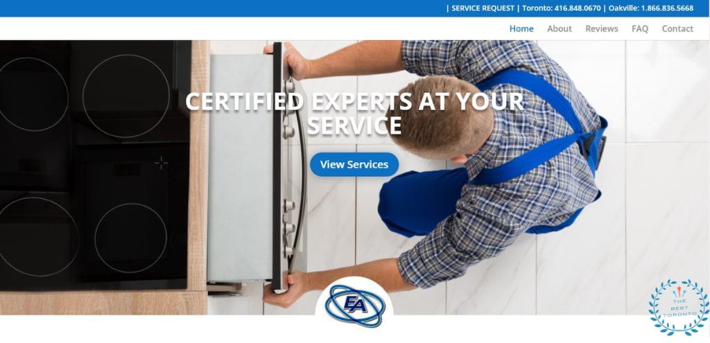 Elite Appliance Service's Homepage