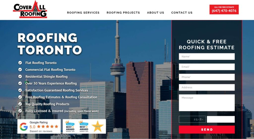Coverall Roofing's Homepage